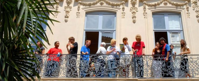 Students in the IEF balcony