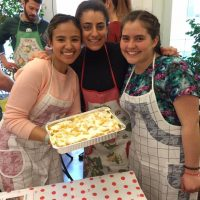Il Centro, students cooking desserts