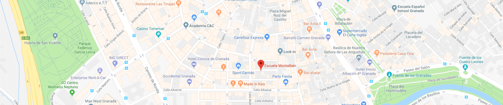Map of Escuela Montalbán